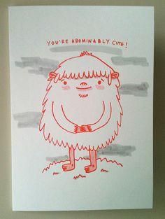 You're Abominably Cute card by k e e k i, via Flickr