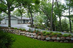 Boulder Wall Natural Stone Landscape Design Build Village Green