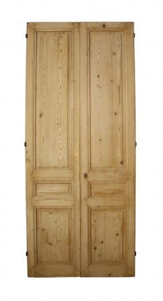 PAIR OF ANTIQUE STRIPPED PINE INTERNAL FRENCH DOUBLE DOORS - UK Architectural Heritage something similiar for room division