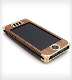 Brass & Rosewood Composite iPhone 4/4s or 5 Case with Western Engraving