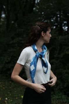 no outfit is complete without a scarf. Indigo gives it an organic ease. #MaggiePate #InksandThread