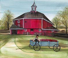 Autumn at the Octagonal Barn Giclée - Artist Proof