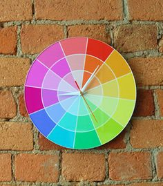 rainbow paint sample clock