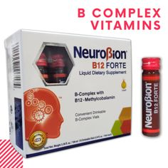 NEUROBION B12 FORTE SUPPLEMENT 10 Drinkable Vials SUPLEMENTO BEBIBLE  Price: 19.89 & FREE Shipping  #hashtag1 Vitamin B Complex, Vitamins, Free Shipping, Im A Mess, Vitamin D
