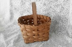 Vintage Wicker Basket by OurVintageNest on Etsy