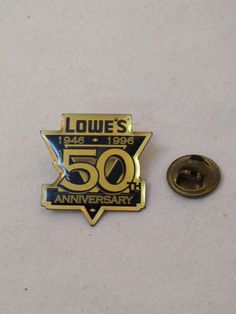 Lowe's 50th Anniversary Pin by TheCharmingAttic on Etsy, $1.50