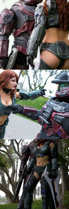 While it looks great, it still represents complaints from the ladies that female armor in games shouldn't even be called armor, lol. Cortana Cosplay, Halo Cosplay, Cosplay Diy, Cosplay Outfits, Cosplay Girls, Cosplay Costumes, Cod Zombies, Halo Spartan, Halo Game