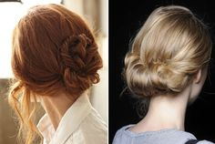 Low buns/chignons.