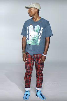 Pharrell Williams wearing  Vintage Sonic Youth T-Shirt, Cactus Plant Flea Market…