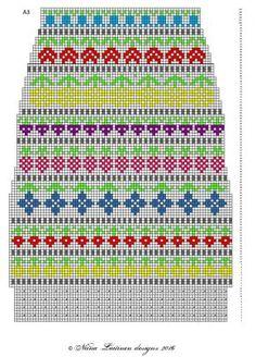 Fair Isle Knitting, Knitting Socks, Hand Knitting, Knitting Patterns, Cross Stitch Borders, Cross Stitch Charts, Counted Cross Stitch Patterns, Fair Isle Pattern, Paper Embroidery