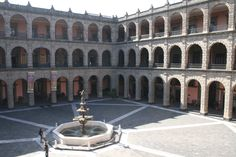Palacio Naciional where the Diego Rivera murals are housed. In the centre of Mexico City