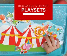 Housewife Eclectic: Reusable Sticker Playsets. How to make play sets from stickers.