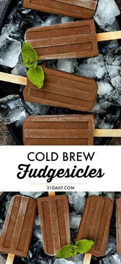 Cold Brew Fudgesicles: A Summer Treat Not to Miss - 31 Daily Frozen Desserts, Easy Desserts, Delicious Desserts, Yummy Food, Summer Grilling Recipes, Summer Recipes, Best Dessert Recipes, Amazing Recipes, Coffee Recipes