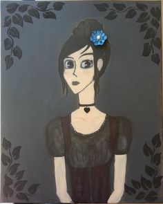 "Original 16 x 20 Canvas Mixed Media Art  ""Lady of Tenacity"" for sale on etsy!"