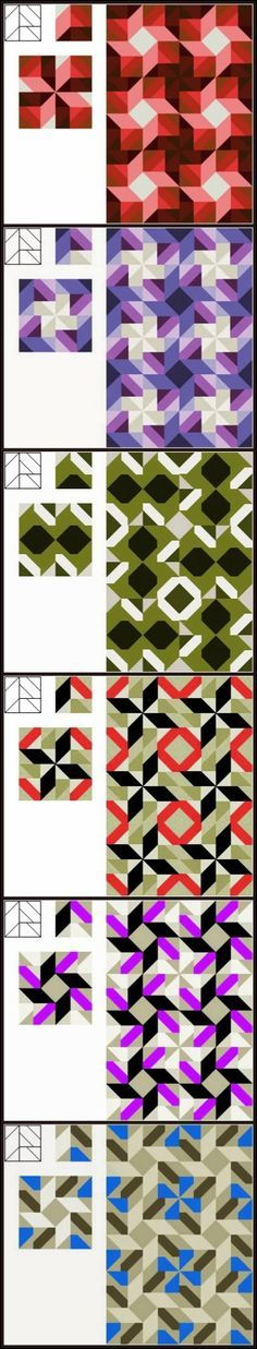 Wayne Kollinger's Sketch Book: 5-patch Block #2