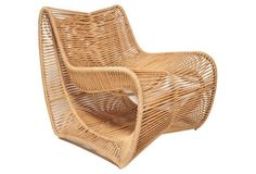 Love this wicker chair!
