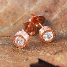 http://www.notonthehighstreet.com/embers/product/dot-rose-gold-white-topaz-stud-earrings
