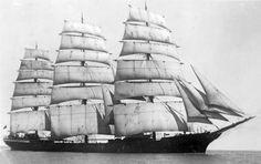"""Full-rigged ship """"Pera"""", 1890"""