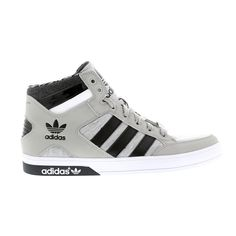 various colors c1280 210bf Adidas Mens - Hard Court Hi - Grey Black White - UK 9.5  Amazon.co.uk  Shoes    Bags