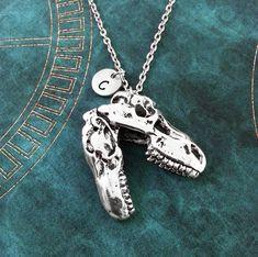 Dinosaur Necklace, LARGE T-Rex Necklace, Personalized Necklace, BIG Dinosaur Pendant, T-Rex Pendant, Dinosaur Charm Necklace, Jurassic Gift