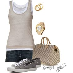 Just the Basics, created by yvonne2214 on Polyvore