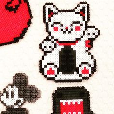 Maneki-neko perler beads by   vintageretrolove_3