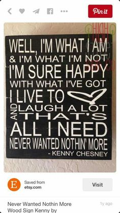 I love this song Kenny Chesney   wrote !!