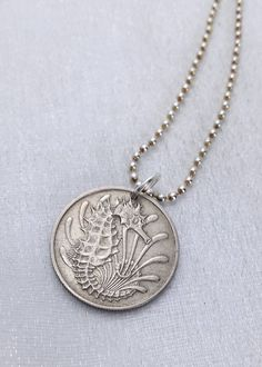 Coin Jewelry SEAHORSE COIN NECKLACE by FindsAndFarthings on Etsy