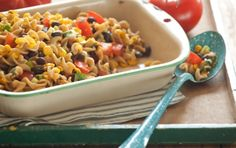 Black Bean and Roasted Corn Pasta Salad // A wonderful meatless dish... Easy to make and so, so tasty!