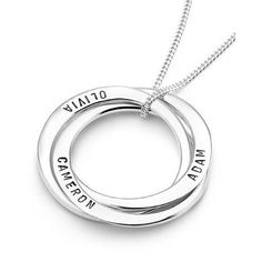 An Ubercircle set with a twist - The Russian Ubercircles. Available in small medium & large. A timeless classic #UberKate #personalisedjewellery www.uberkate.com.au