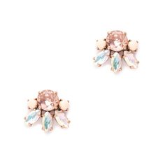 J.Crew women's crystal bud earrings.
