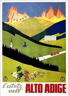 Visit THE AMALFI COAST..ITALY. Vintage E.N.I.T Reise-Poster A1 A2 A3 A4 Größe
