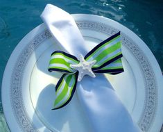 Starfish Napkin Ring Nautical Napkin Ring.  by ManateeCoveCrafts