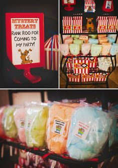 """Customized #labels for Spooky Scooby Doo """"Haunted Carnival"""" Birthday Party.  Featured on @Jennifer Bell with the Mostess created by @Alejandra Rial Jaso - The Marshmallow Studio"""