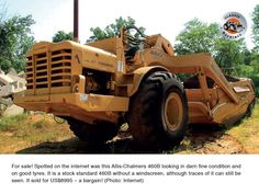 The first production examples of the were introduced in 1962 and were powered by a 387 flywheel horsepower Allis-Chalmers model diesel. Best Tyres, Heavy Equipment, Tractors, Monster Trucks, Internet, Activities, Classic, Author, Vehicles