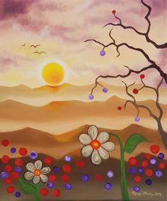 Original Landscape Painting by Peter Ghetu Oil On Canvas, Canvas Art, Original Art, Original Paintings, Buy Art, Saatchi Art, Fine Art, Birds, Landscape
