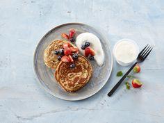 Lapper til frokost Acai Bowl, Pancakes, Mood, Baking, Eat, Breakfast, Recipes, Baking Soda, Acai Berry Bowl