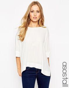 ASOS TALL - T-shirt kimono oversize avec dos en V