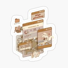 Bleeding-Heart Shop   Redbubble Single Pic, Bullet Journal Banner, Isometric Art, Cute Art Styles, Sticker Ideas, Cute Anime Pics, Kawaii Art, Aesthetic Stickers, Cute Icons