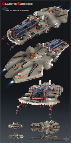 ArtStation - Concept Spaceship for Game, Oshanin Dmitriy