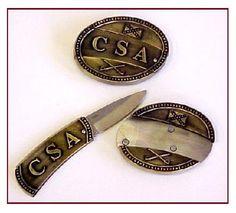 Confederate Belt Buckle & Knife