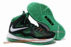 sale retailer 990e9 08db8 Nike Lebron X (10) Black Green White Style 541100 300 Hot White Style,