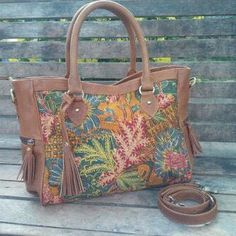 Traditional batik bag with leather #handmadebyHani_pasarbringharjoYogyakarta_indonesia
