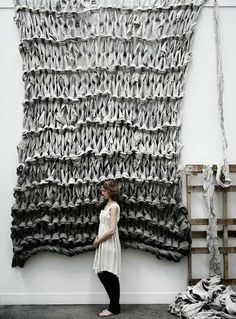 Oversize Knitting by Jaacqueline Fink and Lara Hutton via @anthologymag