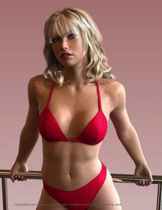 model of a young women dressed in a bikini Bikini Babes, Bikini Girls, 3d Girl, Mädchen In Bikinis, 3ds Max, Swimsuits, Swimwear, Zbrush, Sexy Ass