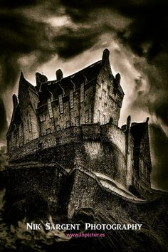 Once upon a time...  there was an enchanted castle..  An unusual fantasy take on Edinburgh Castle, Scotland