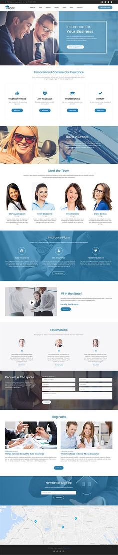 Template 62379 - Roox - Insurance WordPress Theme