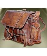 Leather Bag Handmade Mens Leather Laptop Macbook Bags Satchel Messenger handbag - Backpacks, Bags & Briefcases