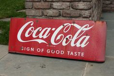 Vintage Metal Coke Sign - Antique Coca Cola- Sweet