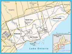 cool Map of Toronto